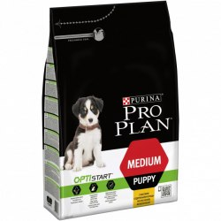 Сухой корм Pro Plan Puppy Medium с курицей - 12 кг