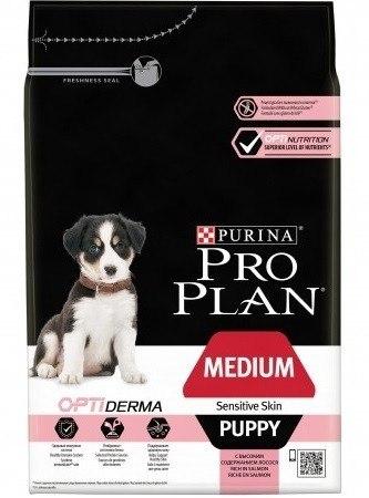 Сухой корм Pro Plan Puppy Medium с лососем и рисом - 12 кг