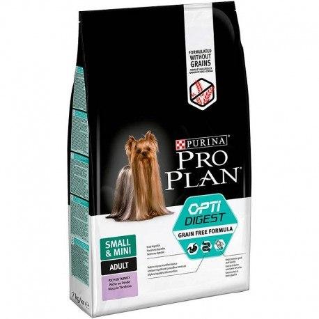 Сухой корм Pro Plan Grain Free Formula Adult Small &Mini, индейки 2,5 кг