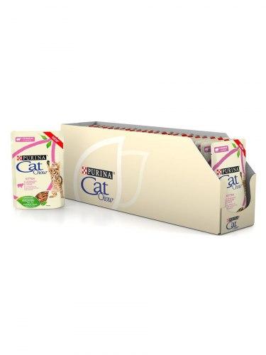 Влажный корм Cat Chow для котят, с ягненком и кабачками в соусе, 85г*24шт