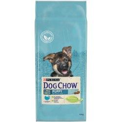 Сухой корм PURINA Dog Chow Puppy LARGE BREED с Индейкой - 14 кг