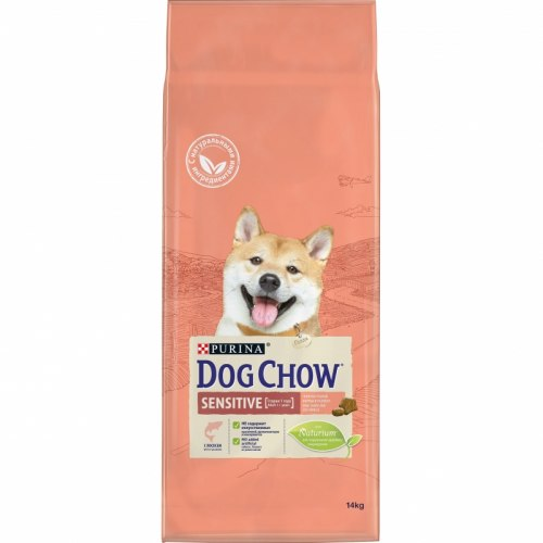 Сухой корм PURINA Dog Chow SENSETIVE ADULT с Лососем и рисом - 14 кг