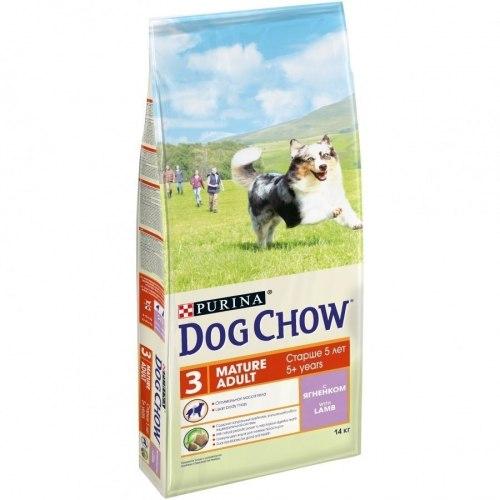 Сухой корм PURINA Dog Chow MATURE ADULT с ягненком - 14 кг