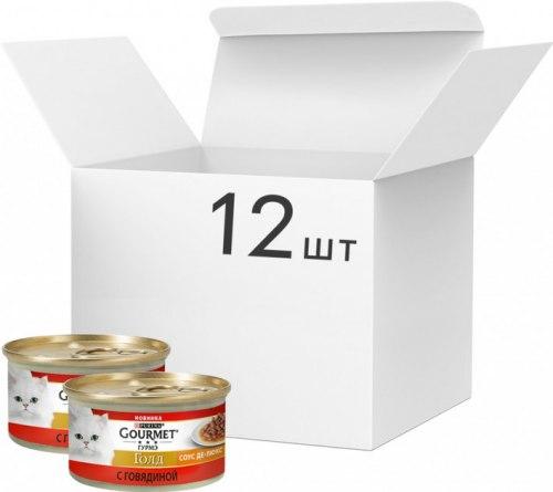 Влажный корм GOURMET Gold паштет с говядиной, 1шт*85г