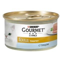 Влажный корм GOURMET Gold паштет с тунцом, 85г