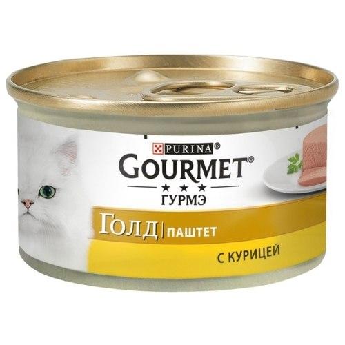 Влажный корм GOURMET Gold паштет с курицей, 85г