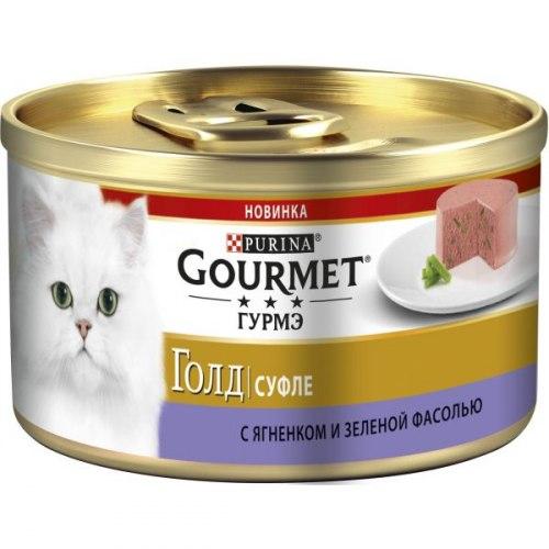 Влажный корм GOURMET Gold нежные биточки ягненок и зеленая фасоль, 12шт*85г