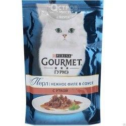 Влажный корм GOURMET PERLE с уткой в подливке, 1 шт*85г