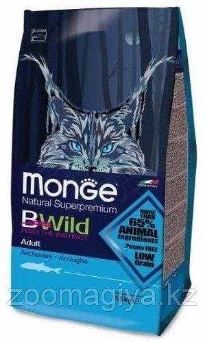 Сухой корм Monge Superpremium Cat BWILD ADULT ANCHOVIES 1,5 кг