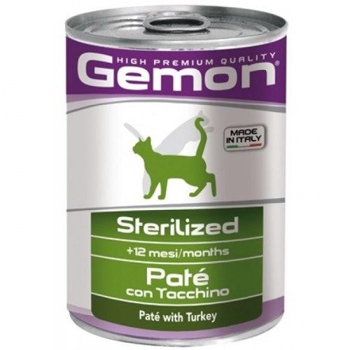 Влажный корм Gemon Cat Adult STERILISED Pate Turkey 6шт*400g