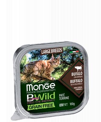 Влажный корм Monge CAT BWILD Bufalo/veg. 100г