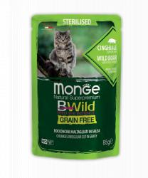 Влажный корм Monge CAT GRILL POUCH BWILD Sterilised Boar 7шт*85г