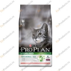 Сухой корм PURINA PRO PLAN STERILISED С ЛОСОСЕМ - 10 кг