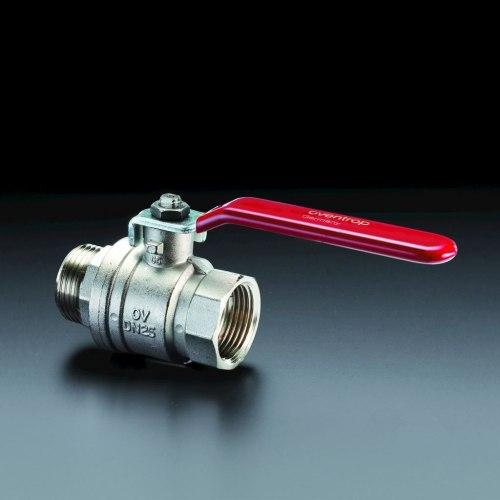 "Optibal шар. кран с рычажной рукояткой Oventrop Ду20, G3/4""ВР, G3/4""НР, PN20, PN16, латунь"
