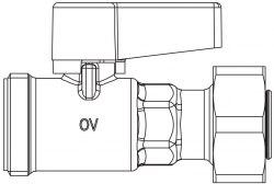 """Шаровой кран для """"Multidis SF"""" - Oventrop для отключения контура гребенки, 3/4""""НР"""