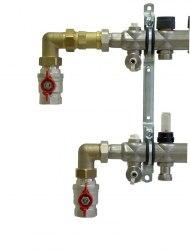 """Угловой присоединительный набор Oventrop для гребенки из нержавеющей стали """"Multidis SF und SH"""""""