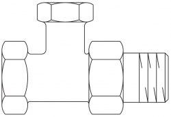 """Combi 2 вентиль на обратную подводку Oventrop Ду15, 1/2"""", PN10, из латуни, проходной, никелированный"""