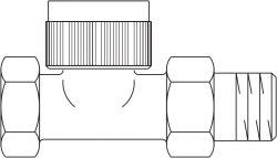 """Термостатический вентиль серии """"A"""" Oventrop DN 15, PN 10, проходной"""