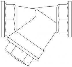 "Сетчатый патрон Oventrop Ду15, 1/2""ВР, PN16, бронза, размер ячеек 0.6мм"