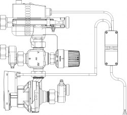 Regufloor HN насосно-смесительный блок Ду25 Oventrop компактное исполнение, с Wilo Yonos Para