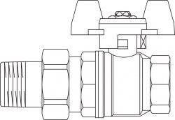 Кран шаровой Obtibal Oventrop Ду32