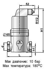 Сепаратор микропузырьков Spirovent Air / высокая температура / высокое давление AA075/004 Spirotech