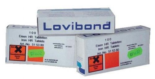 Таблетки для определения железа BWT 1-10 mg Fe/L