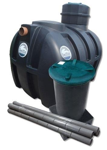 Комплект Септик для дома на 4 человека Delfin 2000 Premium
