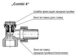 Вентиль на обратную подводку Oventrop Combi