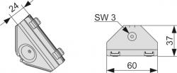 Угловое соединение TECEprofil