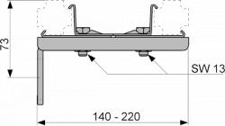 Двойное крепление TECEprofil