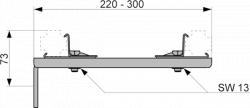 Удлиненное двойное крепление TECEprofil