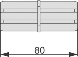 Торцевое соединение профиля TECEprofil