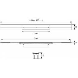 Дренажный канал TECE drainprofile