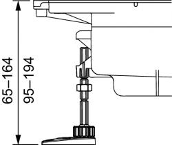 Комплект опор 3 шт. TECE drainprofile