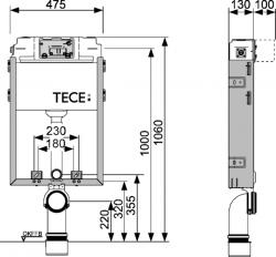 Застенный модуль TECEbox