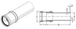 Труба 200 мм с муфтой для канализации Rehau Raupiano Plus