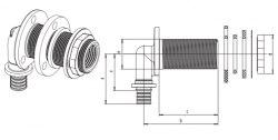 Угольник настенный для монтажа на ДСП, длинный Rehau RAUTITAN RX