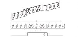 Кронштейн длинный Rehau 0 75/150