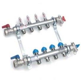 Распределительный коллектор с расходомерами Rehau HKV-D для систем теплого пола