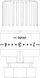 """Термостат """"vindo TH"""" Oventrop с жидкостным чувствительным элементом резьбовое M 30 x 1,5 белого цвета"""