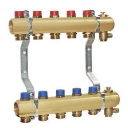 Коллектор для систем водоснабжения и отопления с запорными вентилями в сборе с воздухоотводчиками TECE