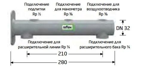 Консоль с патрубками Reflex для различных подключений