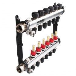Коллектор стальной для поверхностного отопления с соединениями push-fit тип TECElogo