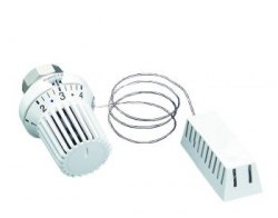 Термостат Oventrop Uni XH 7-28 C, 0 * 1-5, с дист. датчиком 2м, белый