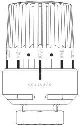 Термостатическая головка белая Oventrop Uni LH
