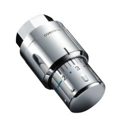 """Термостат """"Uni SH"""" Oventrop 7-28 C,0 * 1-5,с жидкостным чувствительным элементом, хромированный"""