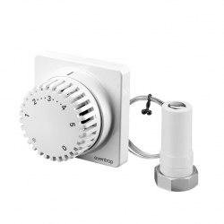 Термостат с дистанционной настройкой Oventrop Uni FH 7-28 C, 0 * 1-5, с дист. настройкой 5м, белый