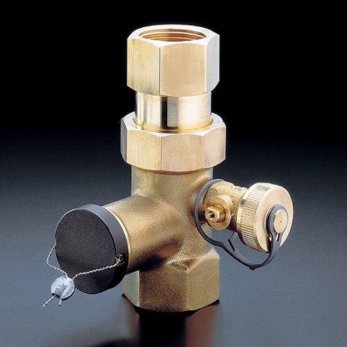 """Expa-Con колпачковый клапан Oventrop Ду 25, 1""""ВР, PN10, латунь, с пломбир.устройствомвом."""