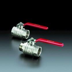 """Optibal шаровый кран с рычажной рукояткой Oventrop Ду32, G1 1/4""""ВР, PN20, PN16, латунь"""